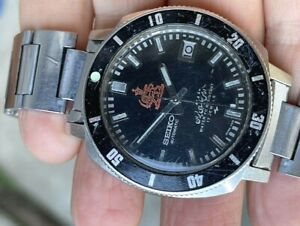 Rare 1970 Seiko Diver 7005-8140 Iranian Royal Military Automatic ALL ORIGINAL