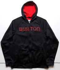 Burton Full Zip Hoodie Bonded Fleece Snowboard Ski Jacket Mens Size Medium Black