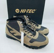 Hi-Tec Mens' Crestone Hiking Trail Hi Top Sneaker Boots- Smokey Brown