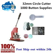 Ving SIC-14956 32mm Badge Maker with 1000 Button Supplies and Circle Cutter
