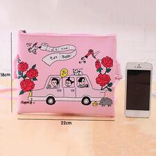 New Women Pink PU Leather Messenger Crossbody Shoulder Bag Satchel Handbag Tote