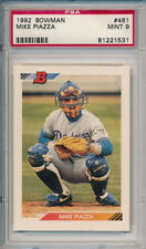 Mike Piazza Dodgers Mets 1992 Bowman #461 Rookie Baseball Card rC PSA 9 Mint QTY