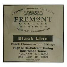 More details for ukulele strings - fremont blackline fluorocarbon tenor dgbe high d tuning  black