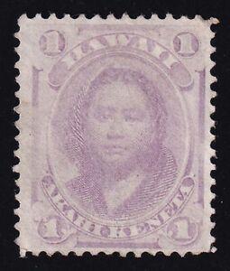 Hawaii Scott 30a Mint NG  mauve 1871  Lot AP009