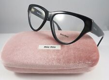 Clearance Miu Miu VMU 10N 1AB-1O1 Black New Authentic Eyeglasses 54mm w/Case