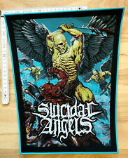 RARE  WOVEN SUICIDAL ANGELS BACKPATCH  OVERKILL SLAYER VENOM ANTHRAX SODOM DEATH