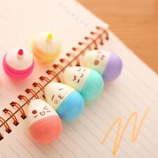 HOT 6pcs/Lot Smile Eggs Mini Highlighter Pen Marker Stationery Material Escolar