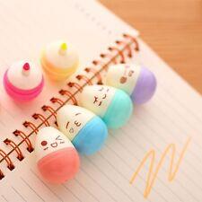 6pcs/Lot Mini Smile Eggs Highlighter Pens Marker Stationery Material Escolar