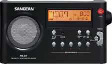 Sangean PR-D7 BK PR-D7 Desktop Clock Radio - FM , AM - Battery Rechargeabe