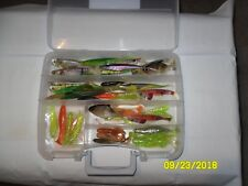Plano Box of 60 New Soft Plastic Saltwater Lures