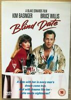 Blind Date DVD 1987 Classic 1980s Romcom Comedy with Bruce Willis Kim Basinger