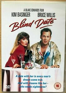 Blind Date DVD 1987 Classic 1980s Romcom Comedy with Bruce Willis Kim Basinger