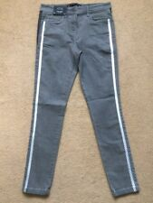 NEXT Women's Grey Mid Rise Highwaisted Superstretch Skinny Fit Jeans, UK8R, £35
