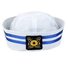 UNISEX CAPTAIN OFFICER NAVY MARINE SAILOR HAT CAP FANCY DRESS HEARGEAR #1