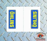 OHLINS CLEAR Upper Fork Graphics Decals stickers suspension