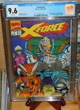 X-Force #1 CGC 9.6 Newsstand edition UPC (Marvel Comics, 8/91) White pages