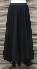 *ZUZA BART*DESIGN BEAUTIFUL 100% PURE COTTON LAGENLOOK SKIRT*BLACK* Size M-L