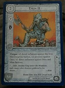 Middle Earth CCG Lidless Eye Wizards Limited Rare Card Dain II