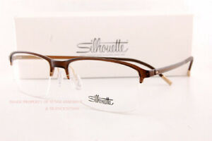 New Silhouette Eyeglass Frames SPX Illusion Nylor 2914 6230 Brown 55