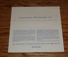 1960 Chevrolet GM Car Specifications & Suggested Retail Price Brochure 60 Chevy