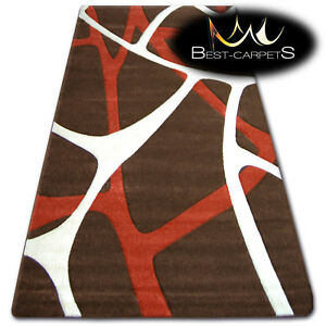 Modern Design Very Soft Rugs 'TIGA brown durable Large Small Size Quality Thick