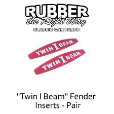 "1965 1966 Ford Truck ""Twin I Beam"" Fender Emblem Inserts - pair"