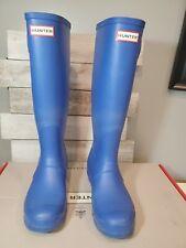 Hunter rain boots 7 tall Cobalt Blue