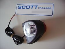 Ifor Williams Britax rubber mounted red/white side position lamp.