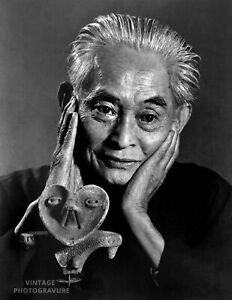 1970 YOUSUF KARSH Vintage DUOTONE Photo 11X14 YASUNARI KAWABATA Japan Writer