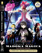 DVD Anime Puella Magi MADOKA MAGICA The MOVIE Trilogy End Ship FREE Eng Sub