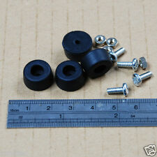 SQ07 8pcs Rubber Feet with Screws and Nuts 12mm Dia. x 7mm Height