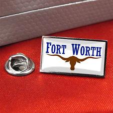 Fort Worth Flag Lapel Pin Badge / Tie Pin