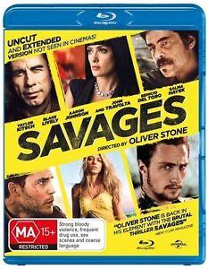 Savages Blu-ray - John travolta - AUSTRALIAN BLU RAY - REGION B