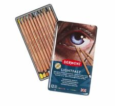 Derwent LIGHTFAST Professional Quality Artist Oil Base Colour Pencils 12 Tin Set