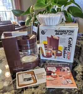 Vintage Hamilton Beach Mini Drip Coffee Maker Scovill 4 Cup 784 Brown