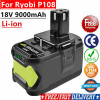 18V 9.0Ah High Capacity LI-ION REPLACEMENT BATTERY For Ryobi One+ Plus P108 P107
