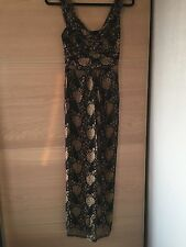 Phase Eight Black & Gold Lace Evening Dress Size 8