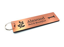 Personalised Key Fobs, Rings, Tags, Chains - Copper Rectangle hotels guest house