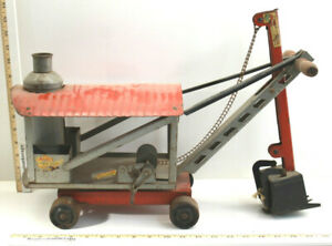 Antique Keystone Ride 'Em Steam Shovel Boston MA Pressed Steel Construction
