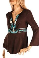 Karen Millen Gypsy Bohemian, Silk Top, Beaded design, UK10, BNWT, (TA074)   KM2