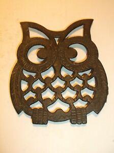CAST IRON OWL SHAPED TRIVET- NICE.