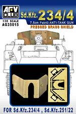 AFV Club 1:35 Sd.Kfz. 234/4 7.5cm Pak40 Anti-Tank Pressed Brass Shield AG35015