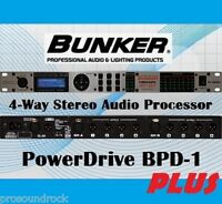 BUNKER BPD-1 Plus Processor Spk Mng (alt DBX DriveRack PA2, Behringer DCX2496)