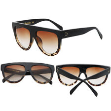 Inspired Flat Top Shield Tortoise Women Sunglasses KIM K Celebrity 8 Color Glass