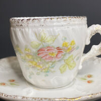 Antique Carl Tielsch C.T Demitasse Cup & Saucer Made in Germany c.1875-1895