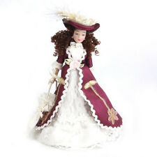 1:12 Miniature porcelain doll house dolls Senora clasica with sombrero 1pz G7Y8