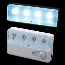 4 LED USB PIR Infrared Sensor Light Auto Motion Detector Lamps Home Outdoor New