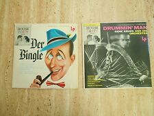 "2 VINTAGE 10""LP RECORD ALBUMS ""DRUMMIN' MAN"" KRUPA & ""DER BINGLE"" CROSBY 1955"