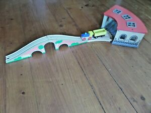 HAPE Wooden Toy Train Tunnel and Hill