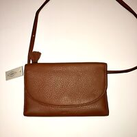 Fossil Brown Genuine Leather Crossbody